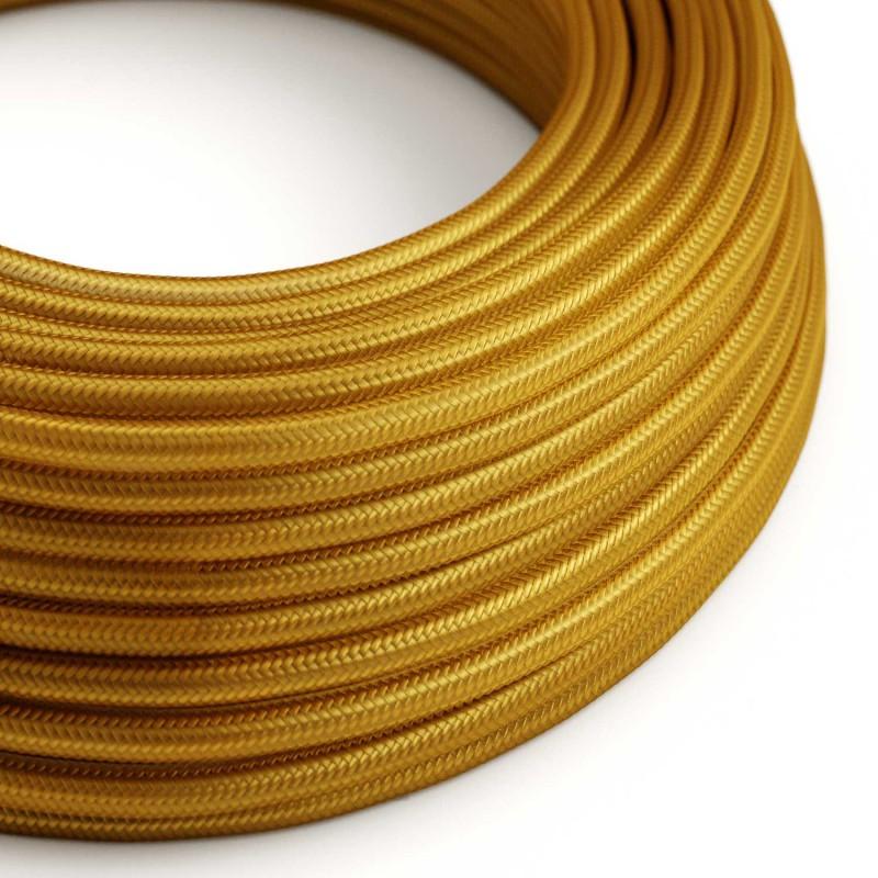 Rund textilkabel RM05 - Guld