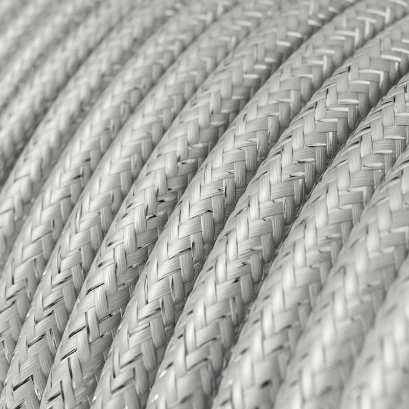 Rund textilkabel, glittrande Flexkabel för belysning RL02 - Silver