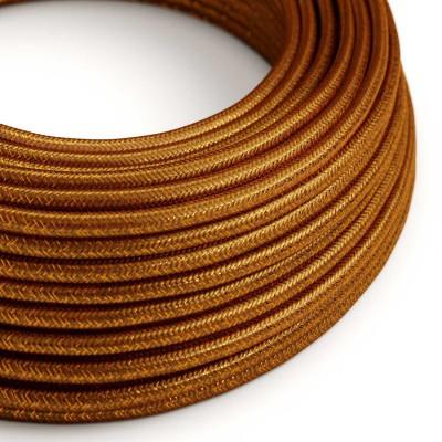 Rund textilkabel, glittrande Flexkabel för belysning RL22 - Koppar