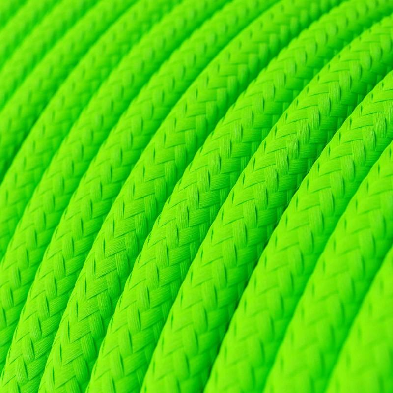 Rund textilkabel flouriserande RF06 - GRÖN NEON