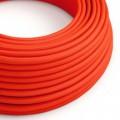 Rund textilkabel flouriserande RF15 - Orange Neon