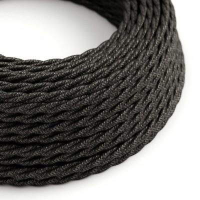 Tvinnad textilsladd TN03 Natur Antracit