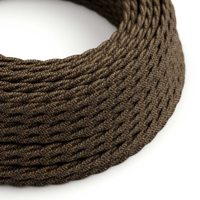 Tvinnad textilsladd TN04 Natur Brun