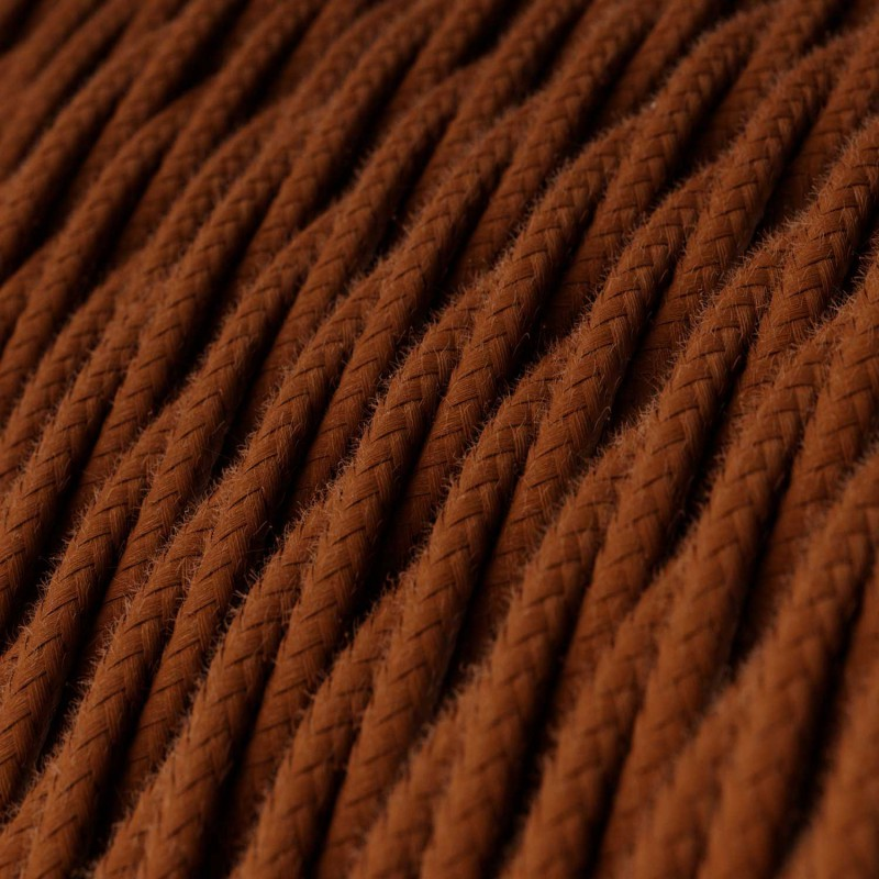 Tvinnad textilkabel i bomull, Solid Deer TC23