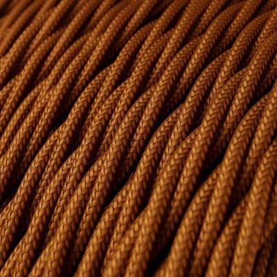 Tvinnad textilkabel med Silkeseffekt, Whiskey TM22