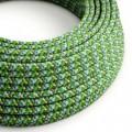 Rund textilkabel, viskos RX05 Pixel Grön