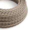 Tvinnad enfärgad textilsladd av bomull TC43 Dove