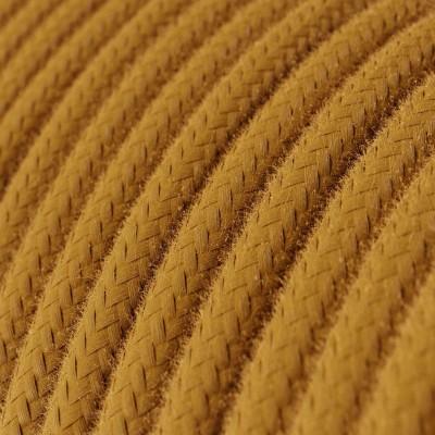 Rund enfärgad textilsladd av bomull RC31 Golden Honey