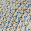Rund textilsladd av bomull Havsblå Lozenge bomull och linne RD65