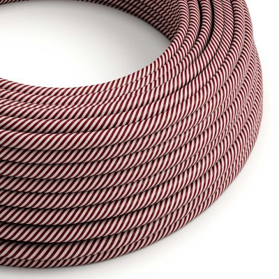 Rund textilkabel Vertigo HD Pink and Maroon, ERM47