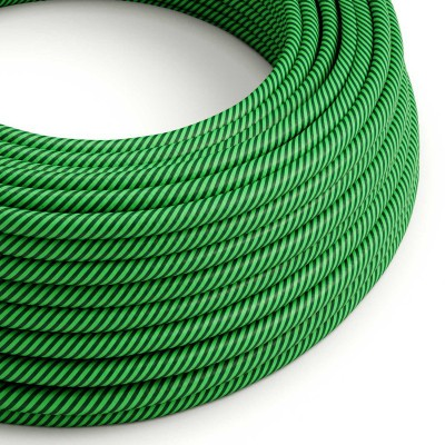 Rund textilkabel Vertigo HD Kiwi and Dark Green, ERM48