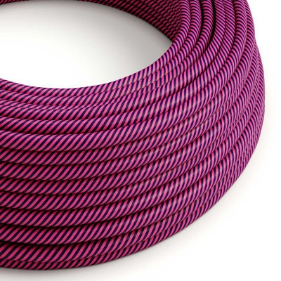 Rund textilkabel Vertigo HD Fuchsia and Dark Purple, ERM50