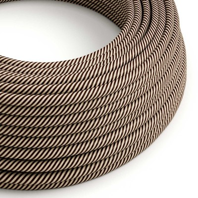 Rund textilkabel Vertigo HD Sand and Dark Brown, ERM51