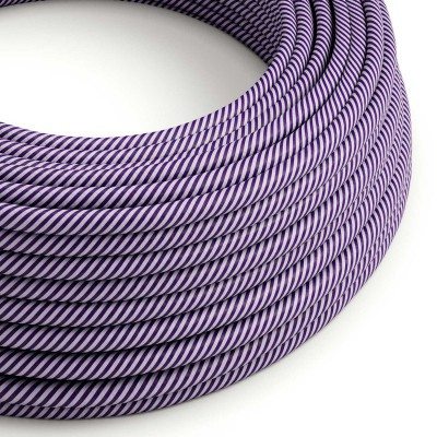 Rund textilkabel Vertigo HD Lilac and Dark Purple, ERM52
