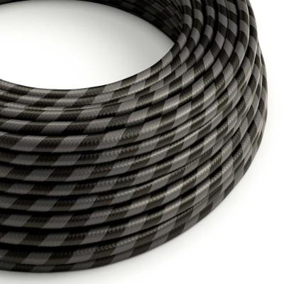 Rund textilkabel Vertigo HD i bredrandig Grafitgrå och Svart, ERM54