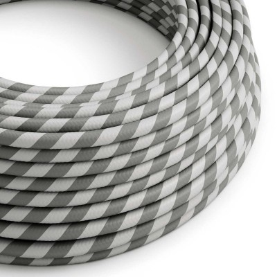 Rund textilkabel Vertigo HD Silver and Grey, ERM55