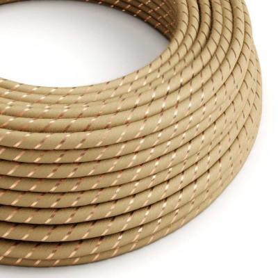 Rund textilkabel Vertigo i jute med koppartråd, ERR04
