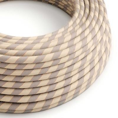 Rund textilkabel Vertigo i bomull och jute med koppartråd, ERR05