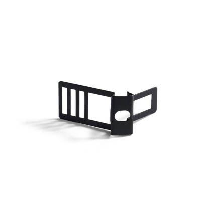 Metal cable tie clip for 16 mm diameter rope cable