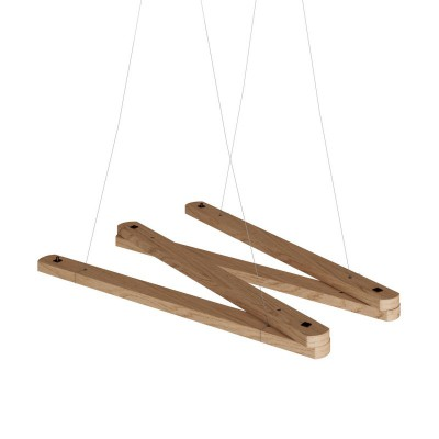 Zigh-Zagh, adjustable wooden ceiling support for pendant lamps