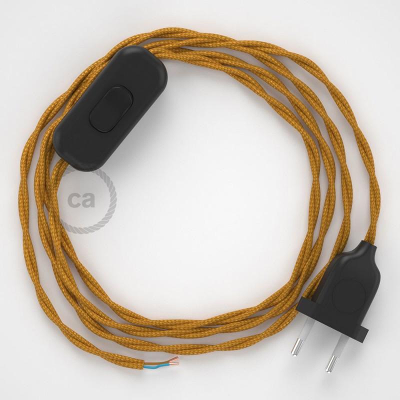 Sladdställ, TM05 Guld Viskos 1,80 m. Välj färg på strömbrytare och kontakt