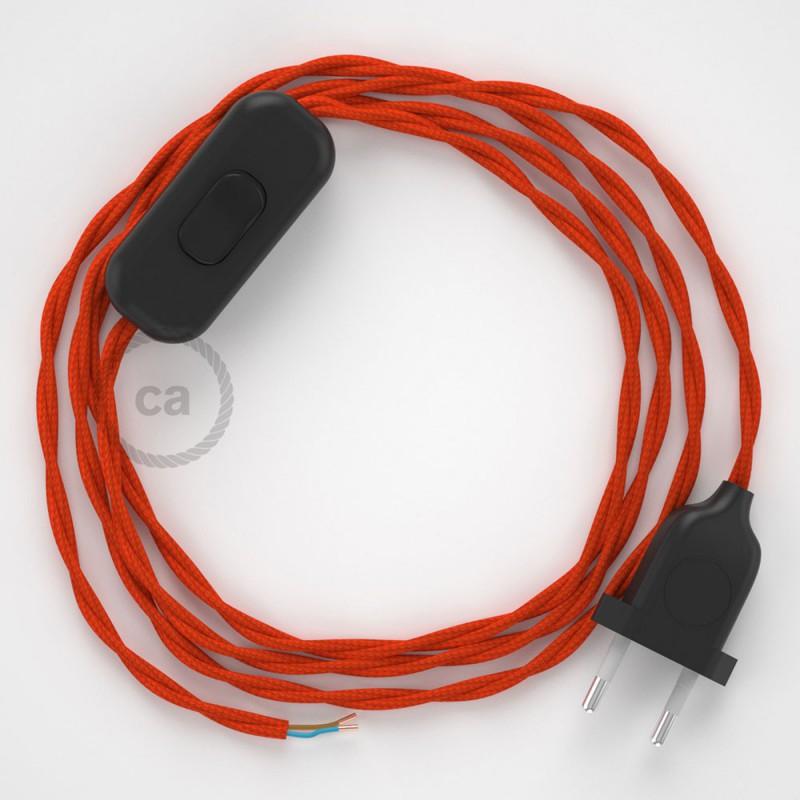 Sladdställ, TM15 Orange Viskos 1,80 m. Välj färg på strömbrytare och kontakt