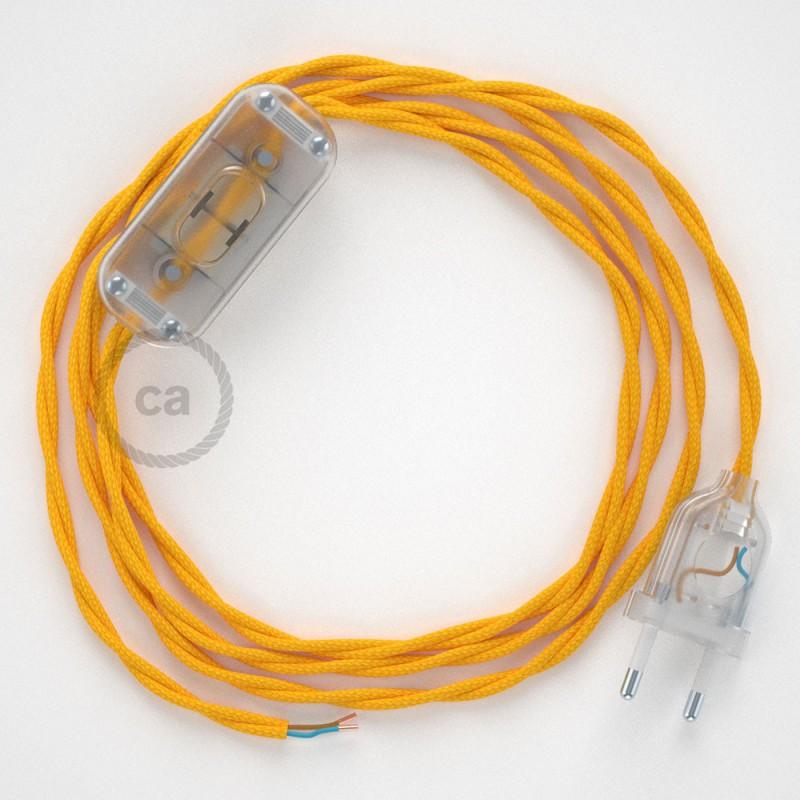 Sladdställ, TM10 Gul Viskos 1,80 m. Välj färg på strömbrytare och kontakt