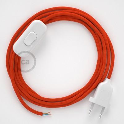 Sladdställ, RM15 Orange Viskos 1,80 m. Välj färg på strömbrytare och kontakt