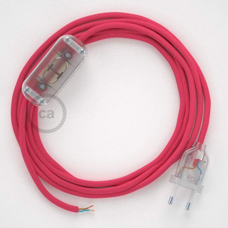Sladdställ, RM08 Cerise Viskos 1,80 m. Välj färg på strömbrytare och kontakt