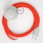 Sladdställ med fotströmbrytare, RF15 Orange Neon Viskos 3 m. Välj färg på strömbrytare och kontakt