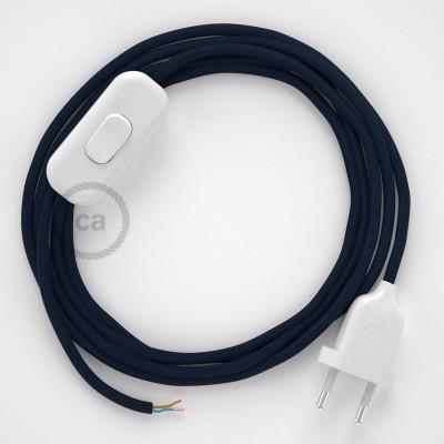 Sladdställ, RM20 Marinblå Viskos 1,80 m. Välj färg på strömbrytare och kontakt
