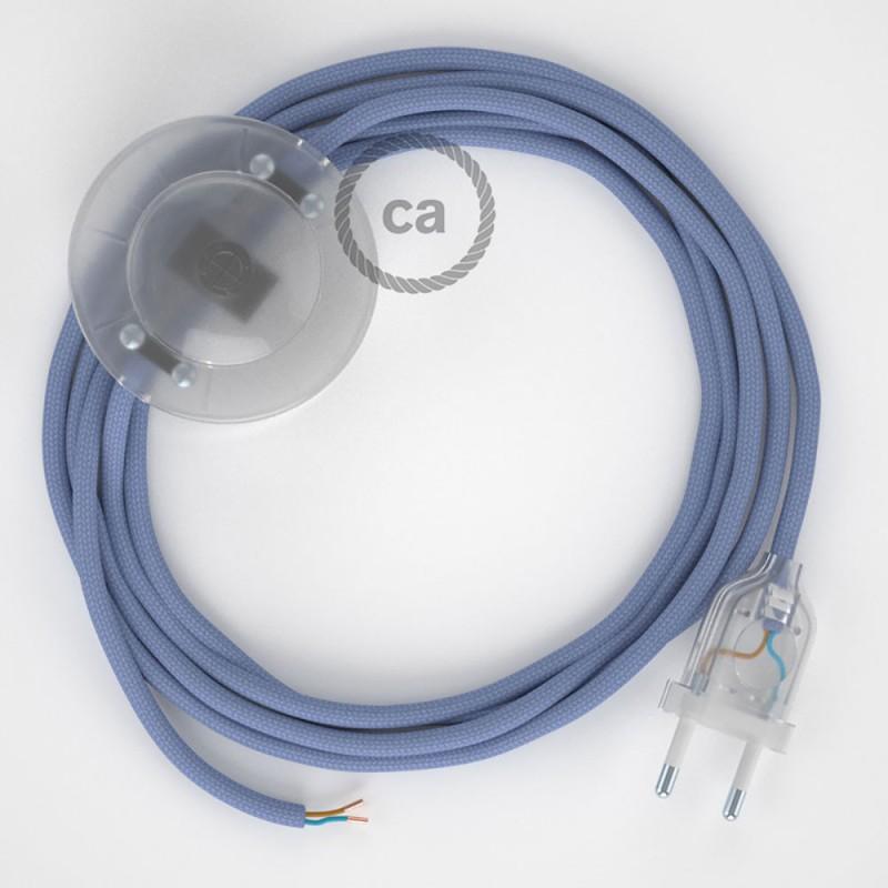 Sladdställ med fotströmbrytare, RM07 Lila Viskos 3 m. Välj färg på strömbrytare och kontakt