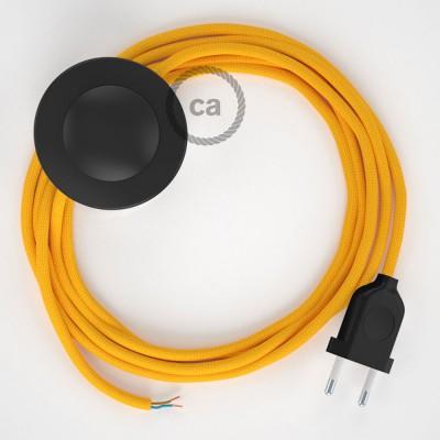 Sladdställ med fotströmbrytare, RM10 Gul Viskos 3 m. Välj färg på strömbrytare och kontakt