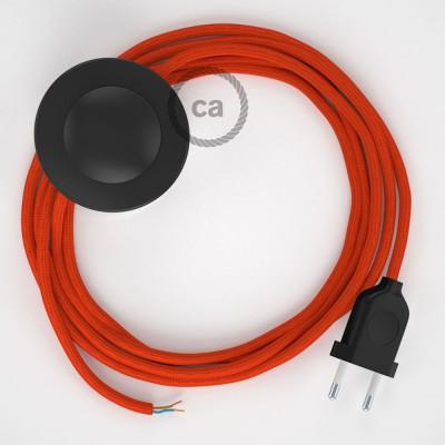 Sladdställ med fotströmbrytare, RM15 Orange Viskos 3 m. Välj färg på strömbrytare och kontakt