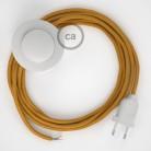 Sladdställ med fotströmbrytare, RM05 Guld Viskos 3 m. Välj färg på strömbrytare och kontakt