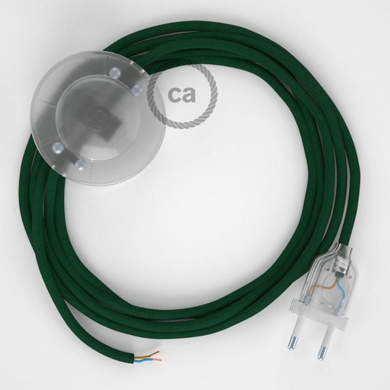 Sladdställ med fotströmbrytare, RM21 Mörkgrön Viskos 3 m. Välj färg på strömbrytare och kontakt