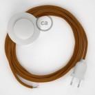 Sladdställ med fotströmbrytare, RM22 Whiskey Viskos 3 m. Välj färg på strömbrytare och kontakt