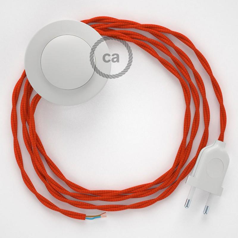 Sladdställ med fotströmbrytare, TM15 Orange Viskos 3 m. Välj färg på strömbrytare och kontakt