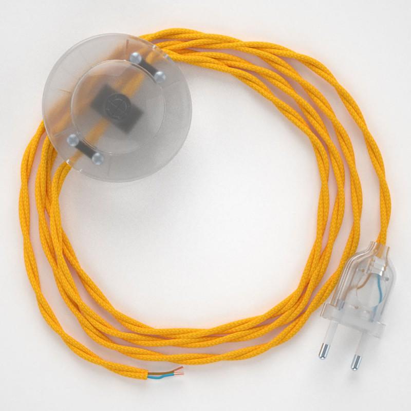 Sladdställ med fotströmbrytare, TM10 Gul Viskos 3 m. Välj färg på strömbrytare och kontakt