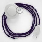 Sladdställ med fotströmbrytare, TM14 Purpur Viskos 3 m. Välj färg på strömbrytare och kontakt
