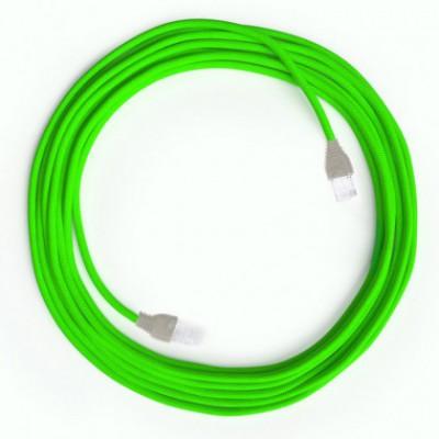 Neon grön LAN Kabel i tyg