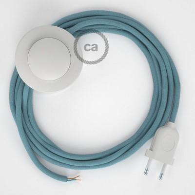 Sladdställ med fotströmbrytare, RC53 Ocean Bomull 3 m. Välj färg på strömbrytare och kontakt