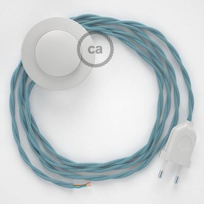 Sladdställ med fotströmbrytare, TC53 Ocean Bomull 3 m. Välj färg på strömbrytare och kontakt