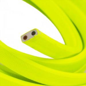 Textilkabel för String Lights, täckt av viskostyg, Gul Fluo CF10
