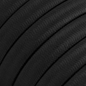 Textilkabel för String Lights, täckt av viskostyg, Svart CM04