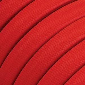 Textilkabel för String Lights, täckt av viskostyg, Röd CM09