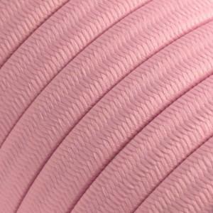 Textilkabel för String Lights, täckt av viskostyg, Baby Pink CM16