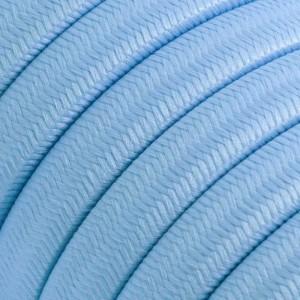 Textilkabel för String Lights, täckt av viskostyg, Baby Azure CM17
