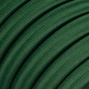 Textilkabel för String Lights, täckt av viskostyg, Mörkgrön CM21