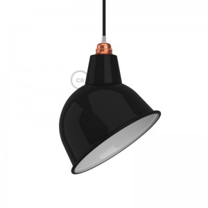 Broadway lampshade in polished metal with E27 fitting